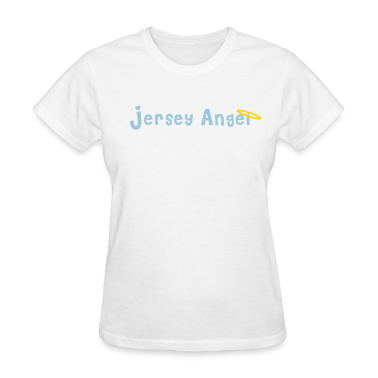 White Jersey Angel Women's T-Shirts