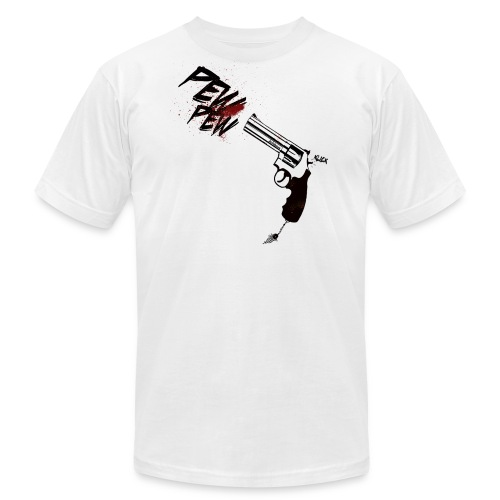pew pew - white - Men's Fine Jersey T-Shirt