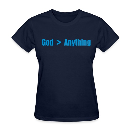 God is Bigger Than Anything - Women's Navy - Women's T-Shirt