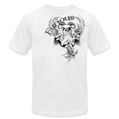 Skull and Flowers - Men's  Jersey T-Shirt