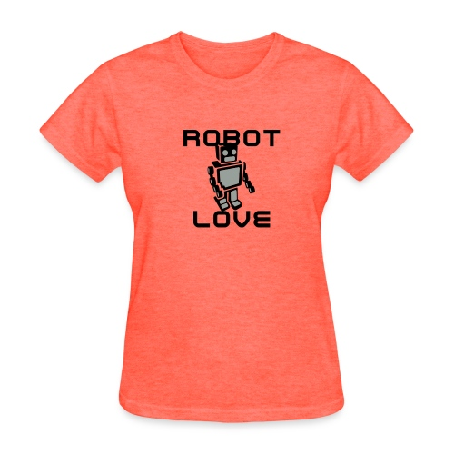 ROBOT LOVE GRAY TSHIRT WOMENS - Women's T-Shirt