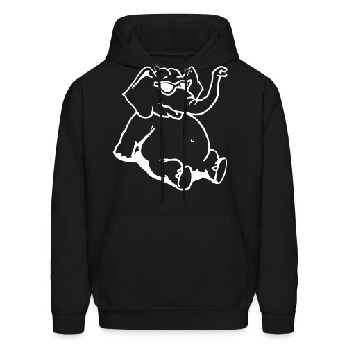 Elephant Chill - Black - Men's Hoodie
