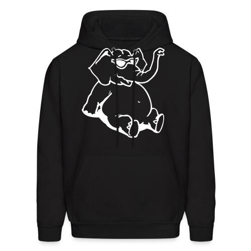Elephant Chill - Black - Men's Hoodie