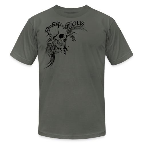 Tribal Skull and Flowers - Men's Fine Jersey T-Shirt