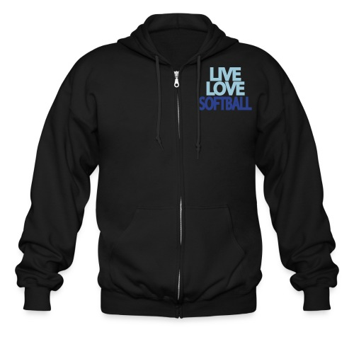live love softball - Men's Zip Hoodie