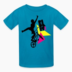 Royal blue ride it Kids' Shirts