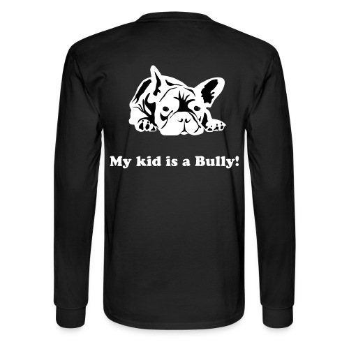 Frenchie kid LS - Men's Long Sleeve T-Shirt