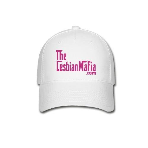 Baseball Cap - White w/Pink Logo - Baseball Cap