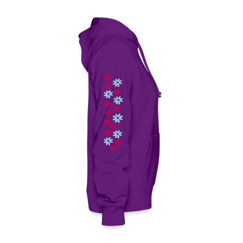 WUBT 'Big Petal Love Flowers' Women's Hooded Sweatshirt, Pink - Women's Hoodie