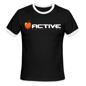 Active Logo Ringer Black - Men's Ringer T-Shirt
