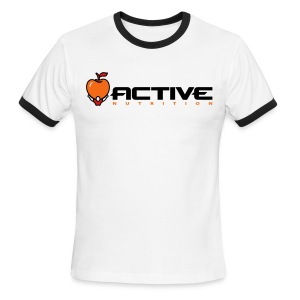 Active Logo Ringer White - Men's Ringer T-Shirt