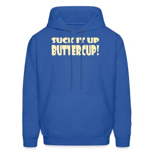 Suck It Up Buttercup Men's Blue Hoodie - Men's Hoodie