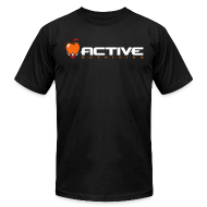 T-Shirts ~ Men's T-Shirt by American Apparel ~ Active Logo Tee Black