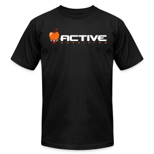 Active Logo Tee Black - Men's T-Shirt by American Apparel