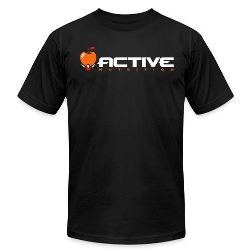 Active Logo Tee Black - Men's Fine Jersey T-Shirt