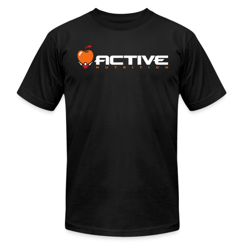 Active Logo Tee Black - Men's Fine Jersey T-Shirt