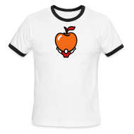 T-Shirts ~ Men's Ringer T-Shirt ~ Active Apple Ringer White