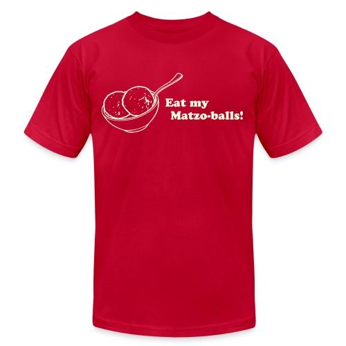 Eat My Matzo Balls Men's AA Tee - Men's Fine Jersey T-Shirt