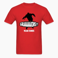 Red Graaaains!!! Vegan Zombie T-Shirts