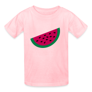 Kids' Shirts ~ Kids' T-Shirt ~ KKT 'Large Watermelon Slice' Children's Tee, Light Pink