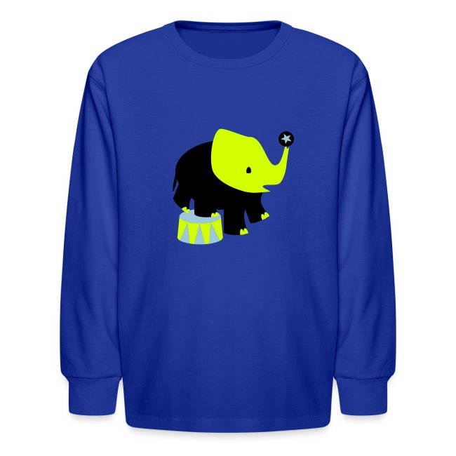 KKT 'Circus Elephant, 3 Color' Kids' LS Tee, Red