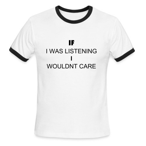 Listening - Men's Ringer T-Shirt