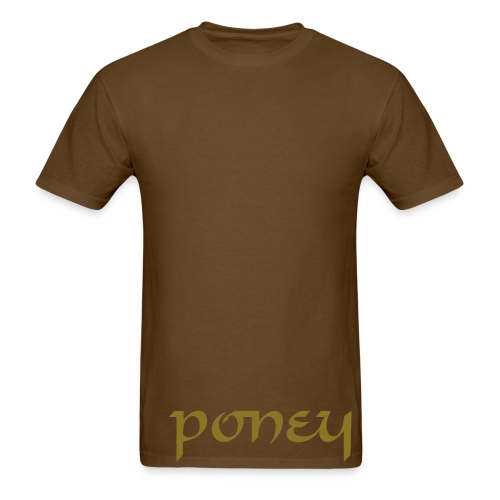 Poney (metallic) - Men's T-Shirt