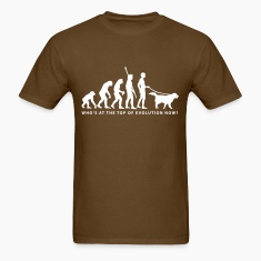 Brown evolution_dog_b T-Shirts