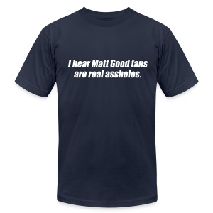 Matt Good Fans (Navy Blue) - Men's T-Shirt by American Apparel