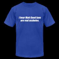 T-Shirts ~ Men's T-Shirt by American Apparel ~ Matt Good Fans (Blue)