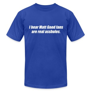 Matt Good Fans (Blue) - Men's T-Shirt by American Apparel