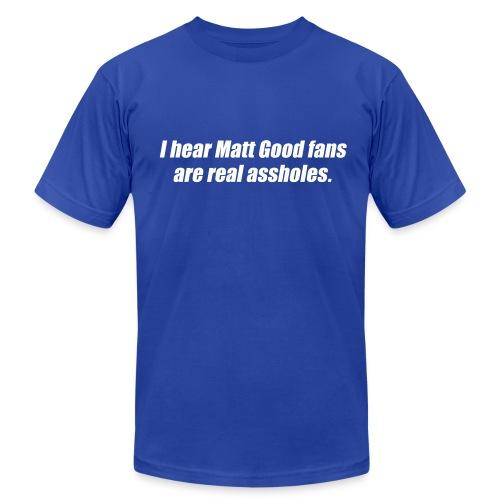Matt Good Fans (Blue) - Men's Fine Jersey T-Shirt