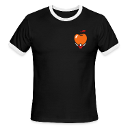T-Shirts ~ Men's Ringer T-Shirt ~ Active Apple Ringer Black V.2