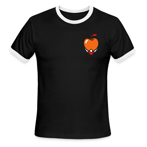 Active Apple Ringer Black V.2 - Men's Ringer T-Shirt