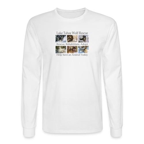 LTWR Tiled Design with Dark text - Men's Long Sleeve T-Shirt
