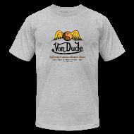 T-Shirts ~ Men's T-Shirt by American Apparel ~ Von Dude Flying Yin Yang Bowling Ball - Men's AA Tee
