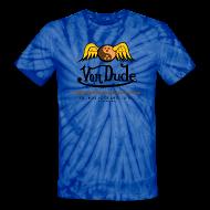 T-Shirts ~ Unisex Tie Dye T-Shirt ~ Von Dude Flying Yin Yang Bowling Ball - Men's Unisex Tie Dye T Shirt