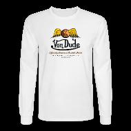 Long Sleeve Shirts ~ Men's Long Sleeve T-Shirt ~ Von Dude Flying Yin Yang Bowling Ball - Men's Long Sleeve
