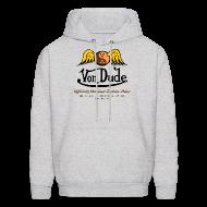 Hoodies ~ Men's Hoodie ~ Von Dude Flying Yin Yang Bowling Ball - Men's Hooded Sweatshirt