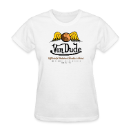 Women's T-Shirts ~ Women's T-Shirt ~ Von Dude Flying Yin Yang Bowling Ball - Women's Standard Weight T-Shirt