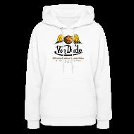 Hoodies ~ Women's Hoodie ~ Von Dude Flying Yin Yang Bowling Ball - Women's Hooded Sweatshirt