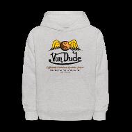Sweatshirts ~ Kids' Hoodie ~ Von Dude Flying Yin Yang Bowling Ball - Kid's Hooded Sweatshirt