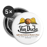 Buttons ~ Large Buttons ~ Von Dude Flying Yin Yang Bowling Ball - Large Buttons