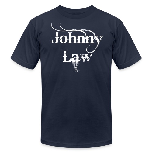 Johnny Law Tee in white - Men's Fine Jersey T-Shirt
