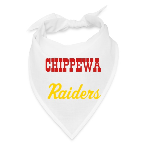 Chippewa Raiders Bandana in White/Red/Gold - Bandana