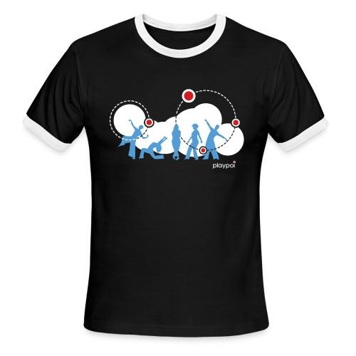 Playpoi Spinners American Apparel ringer-t, men's - Men's Ringer T-Shirt