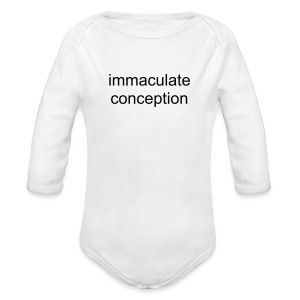 immaculate conception - Long Sleeve Baby Bodysuit