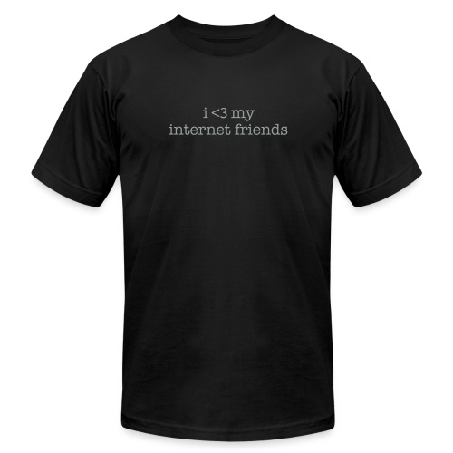 i heart my internet friends men's tee (customize color) - Men's  Jersey T-Shirt