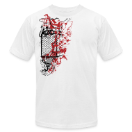 T-Shirts ~ Men's T-Shirt by American Apparel ~ Graffiti Fence Designer T-shirt