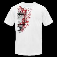 T-Shirts ~ Men's T-Shirt by American Apparel ~ Graffiti Fence Designer T-shirt